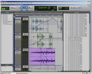 An example of panning audio using Pro Tools.